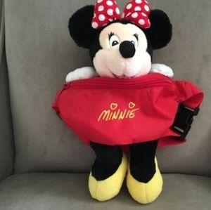 Disney Vintage Minnie Mouse Kids Plush Fannypack